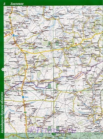 Карта Фатежского Района Курской Области